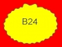 ETICHETTA B24 dim 32x24 mm