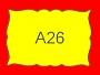 ETICHETTA A26 dim 26x18 mm