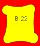 ETICHETTA B22 dim 32x30 mm
