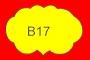 ETICHETTA B17 dim 32x21 mm