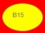 ETICHETTA B15 dim 33x23 mm