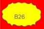 ETICHETTA B26 dim 35x20 mm