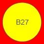 ETICHETTA B27 dim 29x29 mm