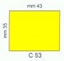 ETICHETTA C53 dim 35x43 mm