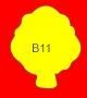 ETICHETTA B11 dim 38x32 mm