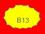 ETICHETTA B13 dim 28x18 mm