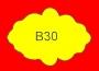 ETICHETTA B30 dim 35x24 mm