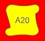 ETICHETTA A20 dim 22x22 mm