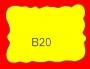 ETICHETTA B20 dim 37x27 mm