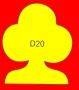 ETICHETTA D20 dim 53X45 mm