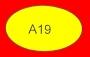 ETICHETTA A19 dim 32x20 mm